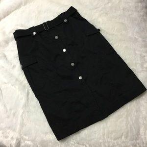 Calvin Klein black cargo skirt